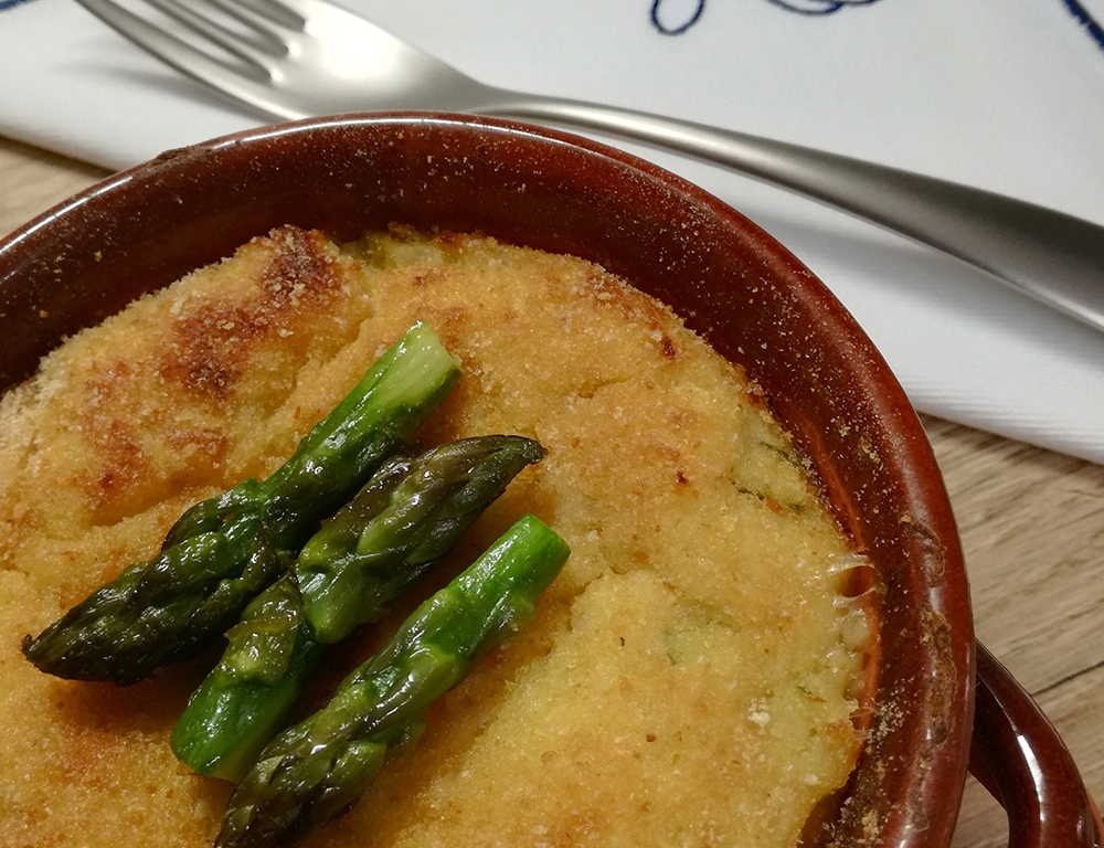 Potatoes and Asparagus Flan