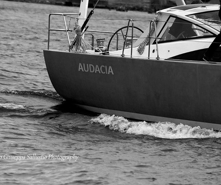 båt, segling